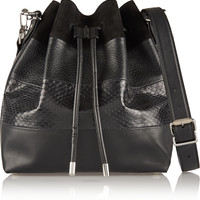 Proenza Schouler - Bucket paneled suede, leather and ayers shoulder bag
