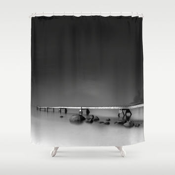 Stretch Shower Curtain by HappyMelvin