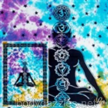 7 Vertical Chakra Tapestries Wall Hanging Bohemian Bed Covering Beach Blanket Great Gift
