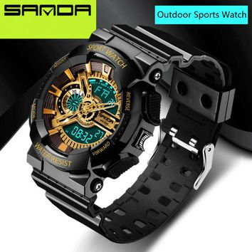 2016 New Brand SANDA Watches Mens LED Digital-watch G Style Watch Waterproof Sport Military Shock Watches for Men relojes hombre