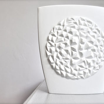 West German Modernist Matte White Porcelain Art Vase by Thomas