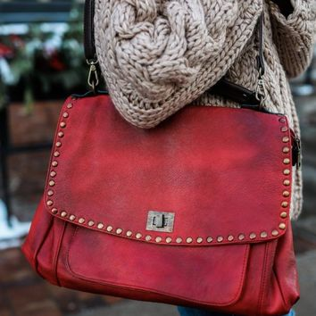 Loved Leather Hobo Bag - Red