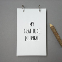 Custom journal, notebook, sketchbook, diary, jotter, ring binder, gift, blank or lined pages, gift notepad, customized, my gratitude journal