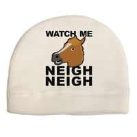 Watch Me Neigh Neigh Adult Fleece Beanie Cap Hat