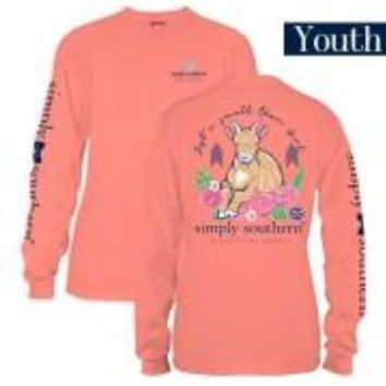 "*Closeout* Youth Simply Southern Long Sleeve - ""Preppy Goat"""