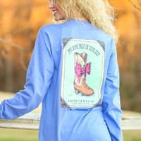LAUREN JAMES:Prep In Your Step Long Sleeve-Periwinkle