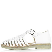 KING Woven Sandals - White