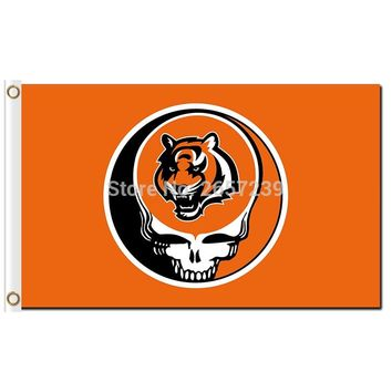 Cincinnati Bengals Stealing Your Face Flag 3x5FT NFL banner 100D 150X90CM Polyester brass grommets custom66,free shipping