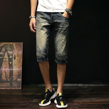 Vintage Summer Denim Pants Stylish Fashion Slim Jeans [1589006532701]