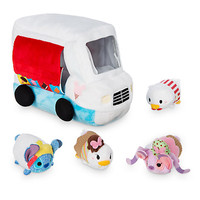 Disney Usa Donald Ice Cream Plush Set Truck Plus 4 Micros Tsum New with Tags