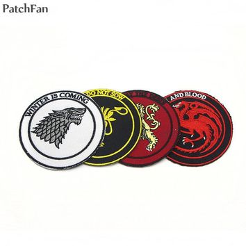 20pcs/lot A0219 Patchfan The TV show A game of Thrones patches sew on iron on patch for clothing DIY Accessories