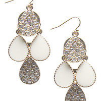 Rhinestone Teardrop Chandelier Earrings | Wet Seal