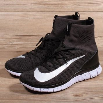 Nike Free Flyknit Mercurial Superfly Black White Running Shoes - Best Deal Online