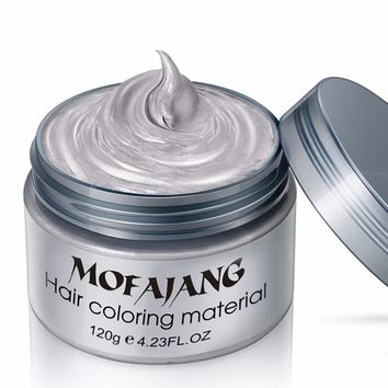 Fashion Hair Coloring Material Styling One-Time Hair Wax Disposable Hair Dye Mud Easy To Wash Plants Component