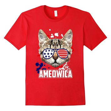 Ameowica 4th of July Meow Cat Party T-Shirt