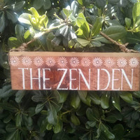 Zen Den /  Buddha sign / beautiful / anthropologie/ urban outfitters/ brandy melville  / wall hanging / decor / art / gift / wholesale