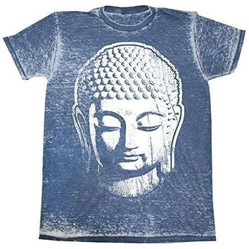 Mens Acid Wash Tee Shirt - Big Buddha Head