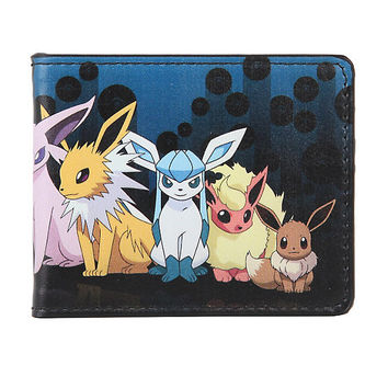 Pokemon Eevee Evolution Family Bi-Fold Wallet
