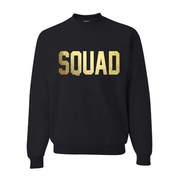 Squad Goals Black Soft Oversized Unisex Pullover Sweatshirt