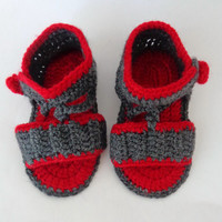 Crochet Baby, Gladiator Sandals, Baby Boy Crochet Sandals, Newborn Crochet Sandals, Infant Sandals Choose Your Color