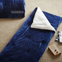 Sherpa Pop Sleeping Bag, Navy
