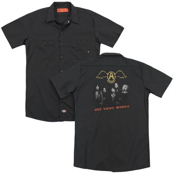 Aerosmith - Get Your Wings(Back Print) Adult Work Shirt