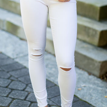 Articles of Society Sarah Skinny Jeans - Decon White