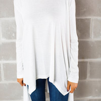 Over-Sized Thermal Tunic- Ivory
