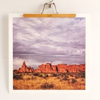 Aaron Morris Red Rocks Art Print