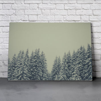 Canvas Wall Art Print - Snowy Treeline by Lars Focke