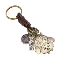Yellow People Design Weave Leather Key Chain