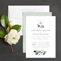 Elegant Greenery Wedding Invitations by Emily Buford | Elli