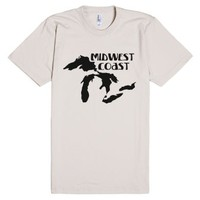 Mid West Coast-Unisex Natural T-Shirt