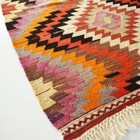 Sukan / VINTAGE Turkish Kilim Rug Carpet - handwoven kilim rug - antique kilim rug - decorative kilim - natural wool