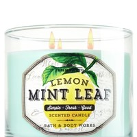 3-Wick Candle Lemon Mint Leaf