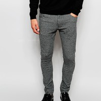 ASOS Super Skinny Trousers In Herringbone at asos.com