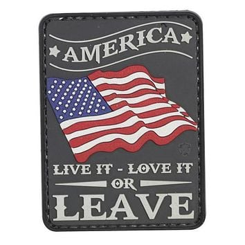 Tru-Spec PVC Morale Patch America Live It