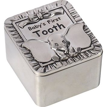 "Disney Dumbo Tooth Fairy Box, ""Baby's First Tooth"", Zinc Alloy"
