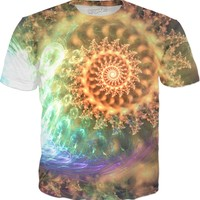 Tri in the Ski [Fractal Spiral] [Close Up] | Rave & Festival Shirt