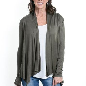 Olive Fly Away Cardigan