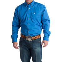 Men's Cinch Blue Solid Buttondown Shirt