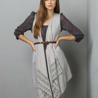 Cliffs of Dover Draped Grey Sweater