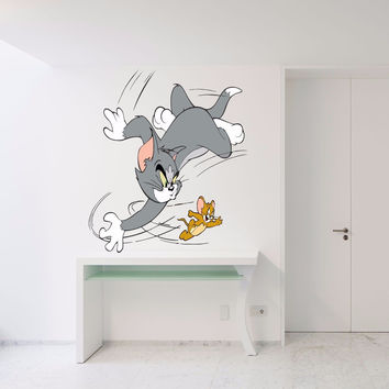 Tom & Jerry Full Color Decal, Full color sticker, colored  Tom & Jerry gc066