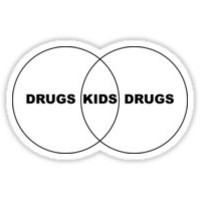 'Kids/Drugs Venn Diagram' T-Shirt by FlyNebula