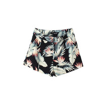 BLACK TROPICAL SHORTS