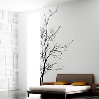 Stickerbrand Nature Vinyl Bare Tree Branch Wall Art Decal Sticker 60x35 inch, Black, 5ft Tall (Left to Right)