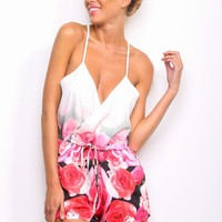 HelloMolly | Rain and Rose Playsuit Red