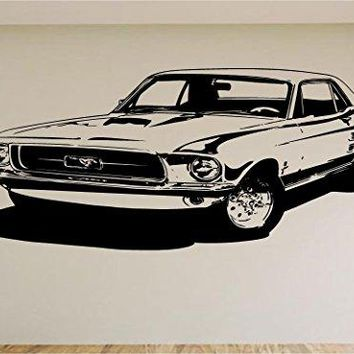Ford Mustang Race Car Auto Wall Decal Stickers Murals Boys Room Man Cave