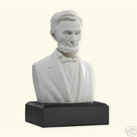 6-inch High Abraham Lincoln Bust Statue Sculpture in White