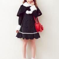-Reservation-[back SCA wrap Cape with ♪ hem scalapribon lace coat | SW | DM | |] ◆ 12 / 12 shipping calendar